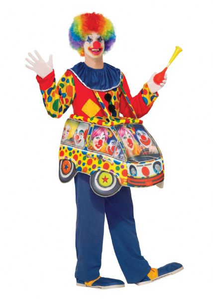 Adults Clown Car Step In Costume Circus FunFair Parade Fancy Dress Outfit